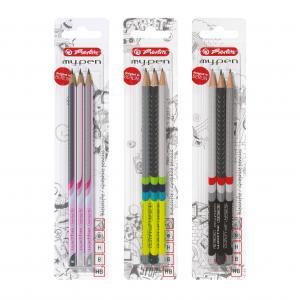 Ceruzka Herlitz my.pen 3 ks v blistri H,HB,B