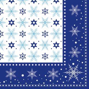 Vianočné servítky kryštáľovo modré 33x33cm