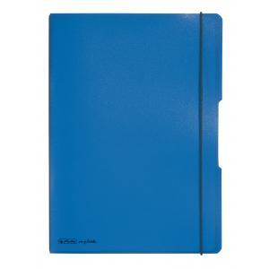 Zošit my.book Flex modrý A4 2x40 listov linajkový,štvorčekový PP