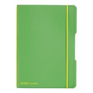 Zošit Herlitz my.book Flex A4 2x40 listov linajkový štvorčekový PP zelený