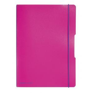 Zošit my.book Flex ružový A4 2x40 listov linajkový,štvorčekový PP