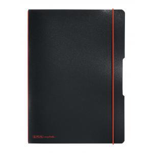 Zošit my.book Flex čierny A4 2x40listov linajkový,štvorčekový  PP