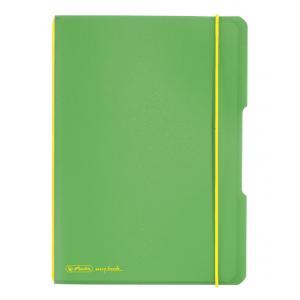 Zošit Herlitz my.book Flex A5 40 listov štvorčekový PP zelený