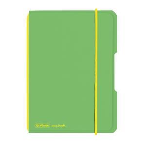 Zošit Herlitz my.book Flex A6 40 listov štvorčekový PP zelený