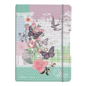 Zošit my.book Flex LadyLike Motýľ A5 40listov štvorčekový  PP