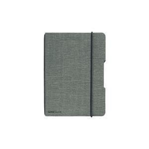 Zošit Herlitz my.book Flex A6 40 listov štvorčekový sivý ľanový