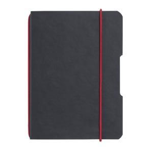 Zošit my.book Flex čierny A6 40 listov štvorčekový koženka