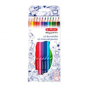 Farbičky Herlitz my.pen trojhranné 12 ks