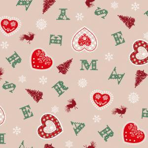 Vianočné servítky X-mas láska 33x33cm