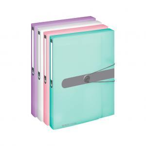 Plastový box s gumičkou Herlitz A4 PP lila
