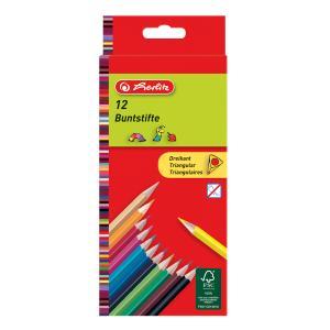 Pastelky Herlitz trojhranné 12 farieb