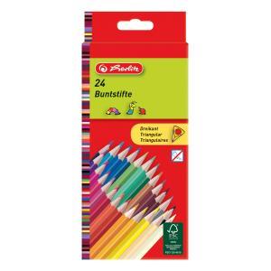 Pastelky Herlitz trojhranné 24 farieb