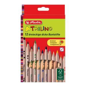 Pastelky Herlitz Trilino trojhranné 12 farieb