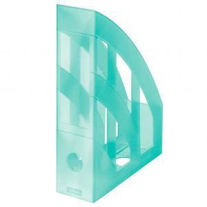 Stojan na časopisy Herlitz transparentný mint