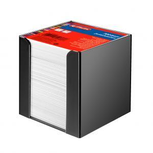 Blok kocka nelepená Herlitz 90x90x90mm biela v čiernej škatuľke