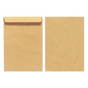 Poštové obálky C5 Herlitz olizové, hnedé, recyklované, 10 ks