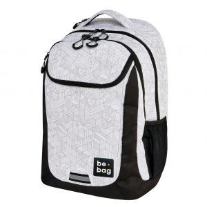 Školský batoh be.bag 31x22x46cm objem 27l Čierno-biele tvary