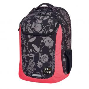 Školský batoh be.bag 31x22x46cm objem 27l Tmavé kvety