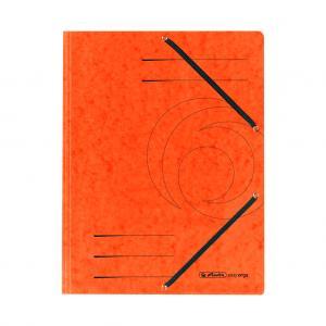 Prešpánový obal s gumičkou Herlitz oranžový