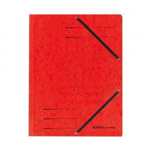 Prešpánový obal s gumičkou Herlitz červený
