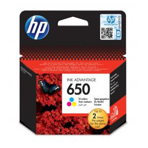 Atramentová kazeta HP CZ102AE No.650 farebná