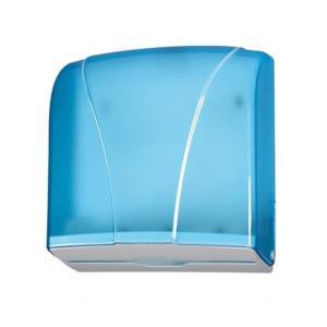 Zásobník manuálny na skladané utierky ZZ, priehľadný modrý