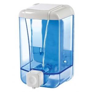 Dávkovač manuálny na tekuté mydlo priehľadný modrý 1000ml