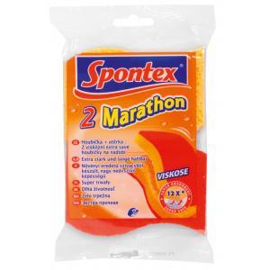 Hubka na riad viskózna Spontex 2 Marathon 2 ks