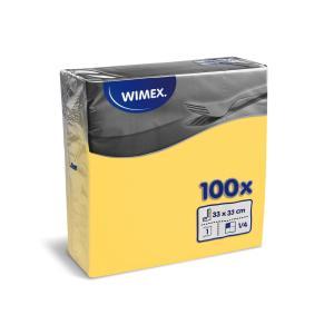 Papierové servítky 1-vrstvové GASTRO 33x33cm žlté 100 ks