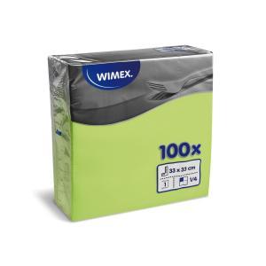 Papierové servítky 1-vrstvové GASTRO 33x33cm žltozelené 100 ks