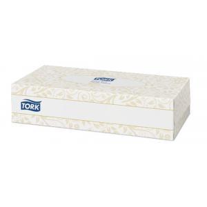 Papierové utierky kozmetické 2-vrstv. TORK Extra Soft Premium biele F1 (100ks)