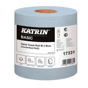 Papierové utierky v roliach KATRIN Basic M2 blue 6ks