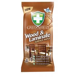 Green Shield čistiace utierky na drevo/laminát 50 až 70ks