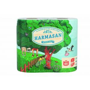Toaletný papier 2-vrstvový Harmasan biely 4 ks