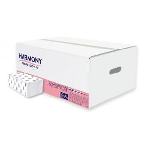 Papierové uteráky Harmony profesional ZZ dvojvrstvové biele