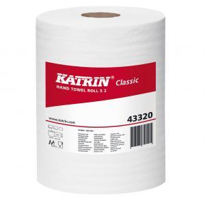 Papierové uteráky v rolke 2-vrstvové KATRIN Classic Roll S biele 12 ks