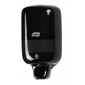 Mini dávkovač tekutého mydla TORK Elevation čierny S2