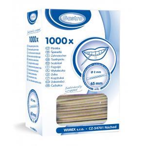 Špáradlá drevené  hygienicky balené  Ø 2x65 mm 1000ks
