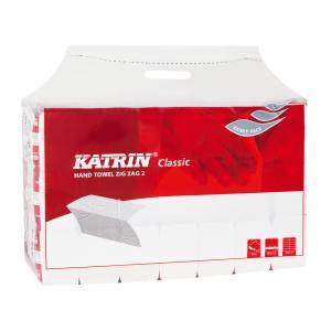 Papierové uteráky Katrin Classic ZZ dvojvrstvové biele Handy