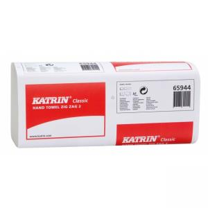 Papierové uteráky Katrin Classic ZZ dvojvrstvové biele 36180