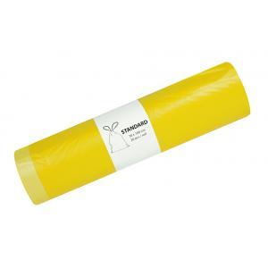 Vrecia pevné zaťahovacie 120l 20μ 700x1000mm 20ks žlté