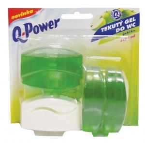 Toaletný blok Q-POWER Jablko 3 x 55 ml
