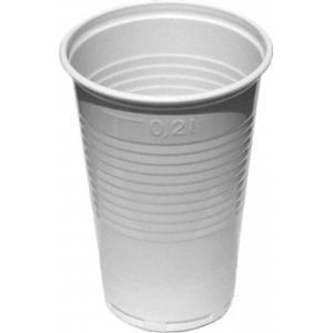 Plastové poháre biele 0,2 l /100ks/