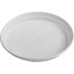 Plastové taniere plytké 22 cm biele 100 ks