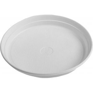 Plastové taniere plytké 17 cm 100 ks