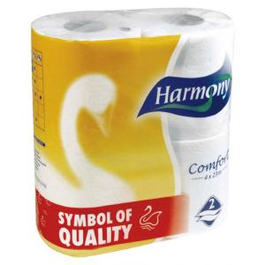 Toaletný papier 2-vrstvový Harmony Comfort biely 4 ks