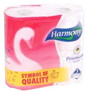 Papier Harmony Soft flóra Aroma 3-vrstvový biely 4 ks