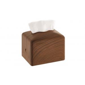 Zásobník stolový na vreckovky ABS plast - vzor dreva tmavý