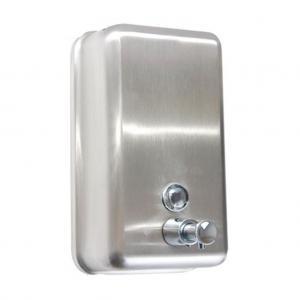 Dávkovač tekutého mydla a dezinfekcie manuálny, nerezový matný 1000ml