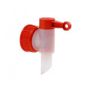 Vypúšťací ventil na kanistre červený